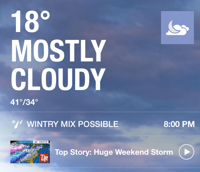 Community Weather for January 8th, 2016 from SERVPRO of Chemung & Schuyler Counties
