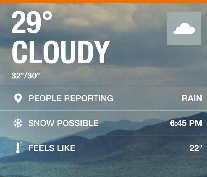 Community Weather for December 28th, 2015 from SERVPRO of Chemung & Schuyler Counties